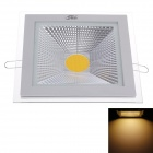 ZiYu ZY-M110-004 15W 1050lm 3000K LED Warm White Light Square Ceiling Lamp - White (AC 100~265V)
