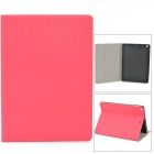Oracle Bones Muster Schutz PU + TPU Flip-open Fall w / Stand / Auto-Sleep für iPad Air - Red
