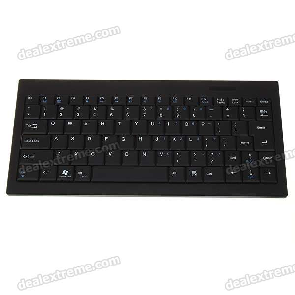 89 Key Slim Portable Bluetooth Wireless Keyboard Rechargeable