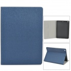 Oracle Pattern Protective Flip Open PU + TPU Case w/ Stand for Ipad AIR - Deep Blue