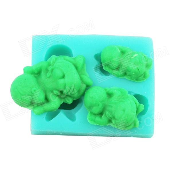 Baby Design Silicone Cake Mold - Green high tech and fashion electric product shell plastic mold
