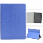Silk Style Protective Flip Open PU + Plastic Case w/ Stand for Ipad AIR - Deep Blue