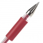M&G Q7 0.5mm Red Gel Ink Pen - Red + Transparent (12 PCS)