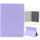 Silk Style Protective PU Leather + Plastic Flip Open Case for Ipad AIR - Light Purple
