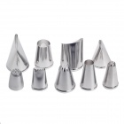 Ruby 9-in-1 Stainless Steel Cake Decorating Tool Big Size Nozzles - Silver