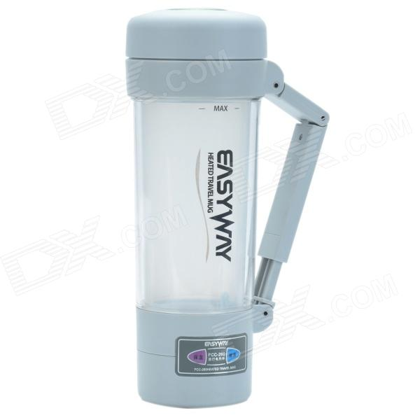 EASYWAY FCC-260 Heated Travel Mug w/ Car Charger - Light Grey (DC 12V / 24V) термокружка emsa travel mug 0 36l black 513361