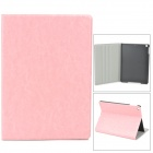 Protective Flip Open PU + Plastic Flip Open Case w/ Stand for Ipad AIR - Pink