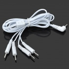4-in-1 Electrotherapy 2.5mm Electrode Connection Pin-Type Cable - White (1.2m)