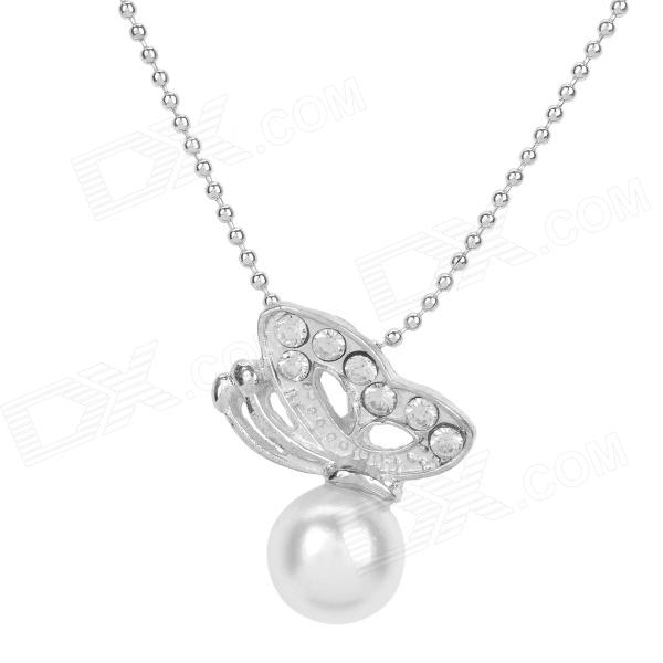 Elegant Women's Silver Alloy Chain Necklace - Silver