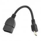 Micro USB OTG Cable for Android Tablet GPS MP3 Phone - Black