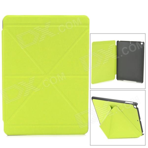 Stylish Folding PU Leather Case w/ Auto Sleep for Ipad AIR - Fluorescent Green case for new ipad 2017 9 7 sketch cat series auto sleep wake up flip pu leather model a1822 a1823 smart cover