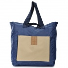 Multi-function Foldable Nylon Tote Bag - Deep Blue