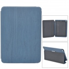 Wood Grain Style Protective PU Leather Case for Ipad AIR - Dark Blue
