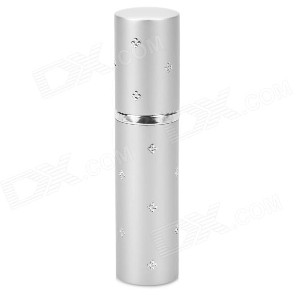 Cylinder Style Portable Perfume Spray Bottle - Silver