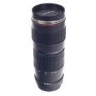 Creative Stainless Steel Simulation Zoom Lens Thermos Mug Cup w/ Cup Lid - Black (400mL)