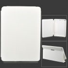 Protective Flip Open PU Leather Case w/ Stand for Ipad AIR - White