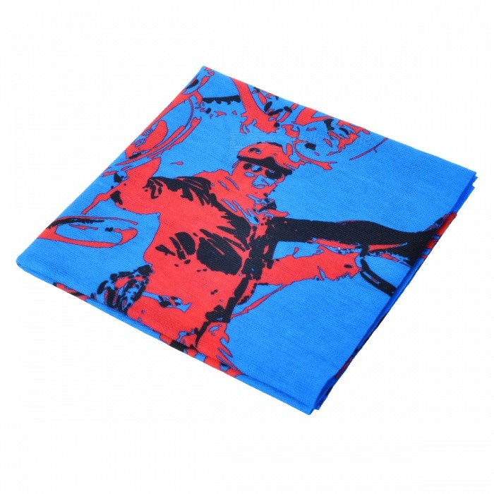 LXHL-909 Outdoor Sports Multifunction Polyester Seamless Head Scarf - Blue + Red (Free Size)