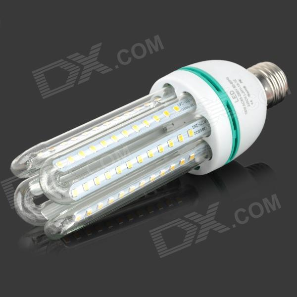 HZLED E27 16W 1440lm 3200K 96 x SMD 2835 LED Warm Light Lamp - White + Silver (AC 85~265V) hzled e27 9w 810lm 6000k 96 x smd 3014 led white light lamp bulb white silver ac 85 265v