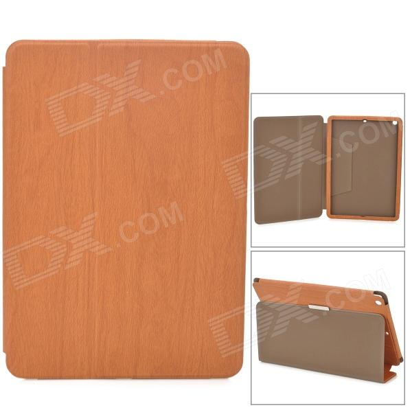 Protective Flip Open PU Leather Case w/ Stand for Ipad AIR - Brown protective flip open pu leather case w stand for ipad air brown