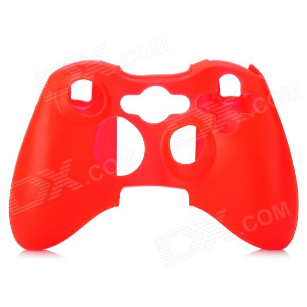 Protective Silicone Cover w/ Cap for Xbox 360 / Xbox 360 Slim Controller - Red anti slip silicone analog cap covers for xbox 360 controller grey pair