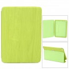 Wood Pattern Protective Flip Open PU Leather Case for Ipad AIR - Yellow