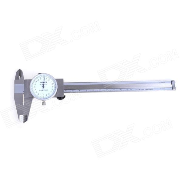 SATA 91521 Stainless Steel Dial Caliper - Silver (0~150mm) sata 91521 stainless steel dial caliper silver 0 150mm