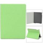 Diamond Pattern Protective PU Leather + Plastic Case for Ipad AIR - Green