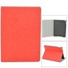 Diamond Pattern Protective PU Leather + Plastic Case for Ipad AIR - Red