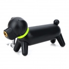 Cartoon Dog Style Red Flame Butane Lighter w/ Keychain - Black + Green