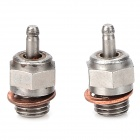 HSP N3 Steel Glow Plugs for RC Cars - Golden + Silver (2 PCS)
