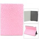 Diamond Pattern Protective PU Leather + Plastic Case for Ipad AIR - Pink