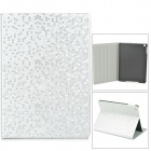 Diamond Pattern Protective PU Leather + Plastic Case for Ipad AIR - Silver