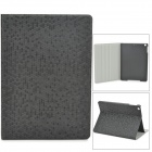Fashion Diamond Grain Flip Open PU Leather Case for Ipad AIR - Black