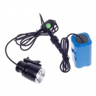 CLAIRVOYANCE LED 300lm 5-Mode 4800mAh Rechargeable White Light Headlights - Black