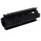 KDP010 Fishbone Style 20mm Handguard Gun Cover Quad Rail Mount System for AR15 / M4 - Black