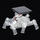 TYN-P-6 DIY Solar Energy-powered Six-legged Assembling Robot Toy Set - Black + Transparent