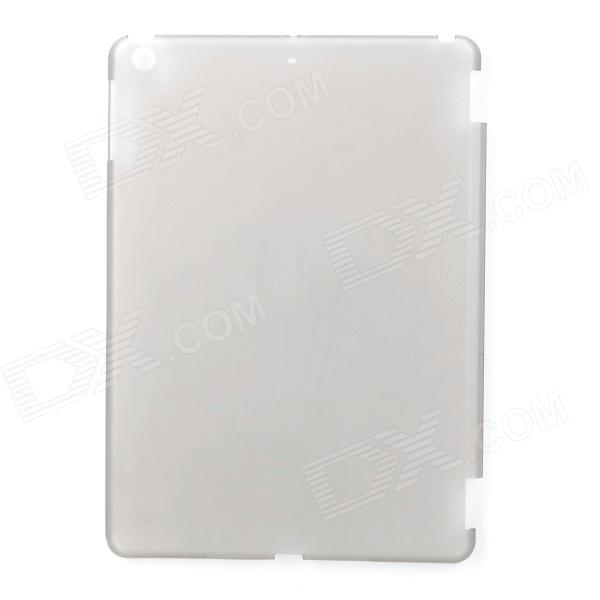 Simple Plain Protective Matte PC Back Case for Ipad AIR - Translucent Grey