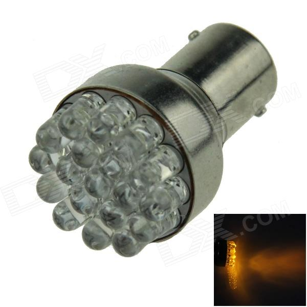 1156 / BA15S / P21W 0.7W 80lm 19-LED Yellow Car Steering Light / Backup Light / Turn Lamp - (12V)