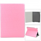 Silk Style Protective PU Leather + Plastic Case for Ipad AIR - Pink