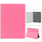 Stylish Protective PU Leather + Plastic Case for Ipad AIR - Deep Pink