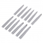 YIYUAN YI-142 Bullet Style Door Guard Protector Decorative Sticker for Auto Car - Gray (12 PCS)