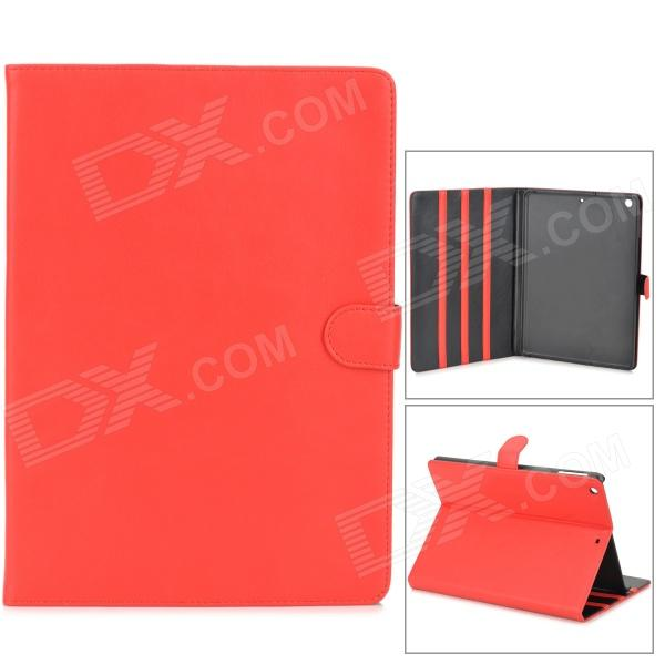 Stylish Protective PU Leather + Plastic Case for Ipad AIR - Red 31 век kw08597