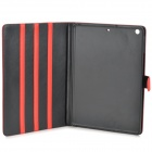 Stylish Protective PU Leather + Plastic Case for Ipad AIR - Red
