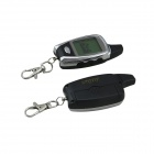 "C09 Two Way Auto Security Motorcycle Alarm System w/ 1.3"" LCD Remote Controller - Black"