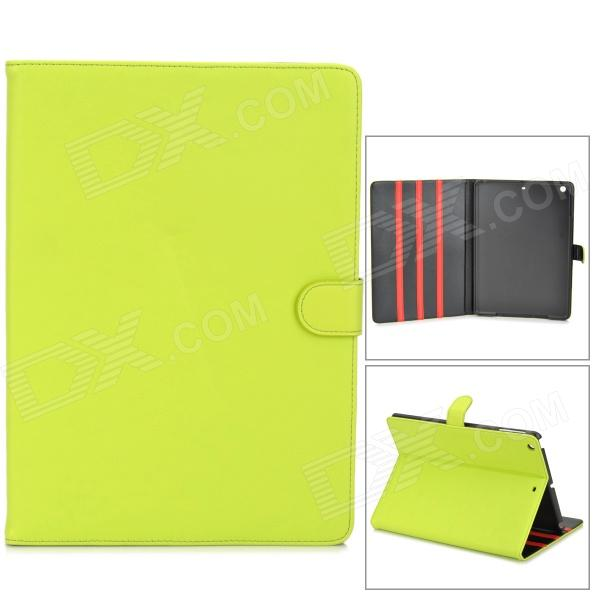Protective Flip Open PU + Plastic Case w/ Stand for Ipad AIR - Fluorescent Yellow oracle bones pattern protective pu tpu flip open case w stand auto sleep for ipad air red