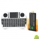 J21 Quad-Core Android 4.2.2 Google TV -soitin, jossa on 1 Gt RAM, 8 Gt ROM, Bluetooth + Air Mouse - musta