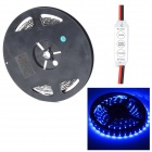 HML Black FPC 36W 480nm 300 x SMD 3528 LED Blue Light Strip w/ Mini Controller