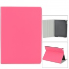 Protective PU Leather + Plastic Case for Ipad AIR - Deep Pink