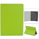 Protective Flip Open PU + Plastic Case w/ Stand for Ipad AIR - Green