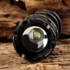 UltraFire BD0007 LED 100lm 3-Mode White Zooming Flashlight - Black (1 x 18650 / 3 x AAA)
